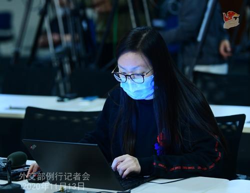 CHINE 2 W.WENBIN Conférence de presse du 13 novembre 2020 tenue par le porte-parole du Ministère des Affaires étrangères Wang Wenbin