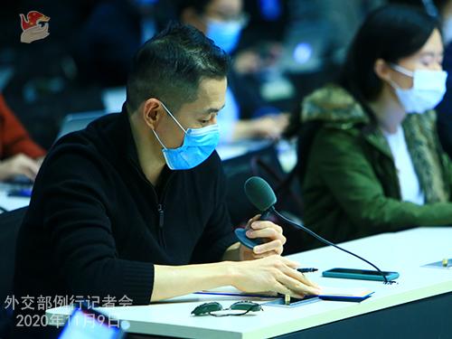 CHINE 3 DU 09.11.2020 Conférence de presse du 9 novembre 2020 tenue par le porte-parole du Ministère des Affaires étrangères Wang Wenbin