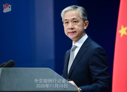 CHINE PH 1 Conférence de presse du 10 novembre 2020 tenue par le porte-parole du Ministère des Affaires étrangères Wang Wenbin