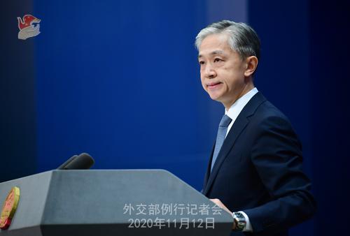 CHINE PH 11 Conférence de presse du 12 novembre 2020 tenue par le porte-parole du Ministère des Affaires étrangères Wang Wenbin