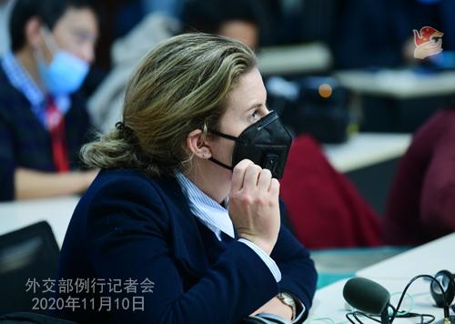 CHINE PH 3 Conférence de presse du 10 novembre 2020 tenue par le porte-parole du Ministère des Affaires étrangères Wang Wenbin