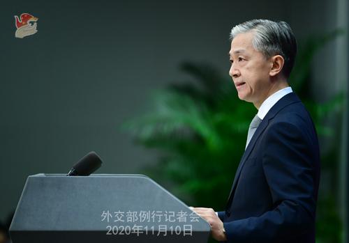 CHINE PH 4 Conférence de presse du 10 novembre 2020 tenue par le porte-parole du Ministère des Affaires étrangères Wang Wenbin