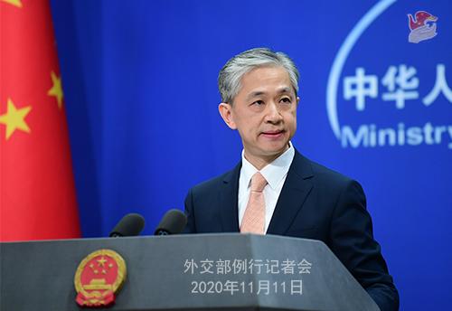 CHINE PH 5 Conférence de presse du 11 novembre 2020 tenue par le porte-parole du Ministère des Affaires étrangères Wang Wenbin