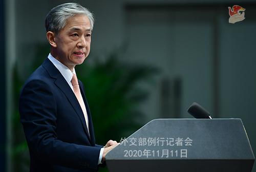 CHINE PH 7 Conférence de presse du 11 novembre 2020 tenue par le porte-parole du Ministère des Affaires étrangères Wang Wenbin