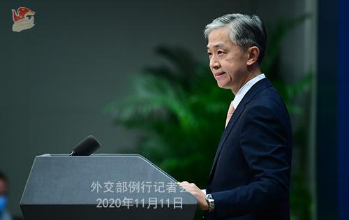 CHINE PH 9 Conférence de presse du 11 novembre 2020 tenue par le porte-parole du Ministère des Affaires étrangères Wang Wenbin