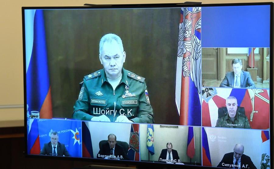 H.K.KREMLIN 2 XX 3 Le Président a tenu une réunion sur la mission russe de maintien de la paix au Haut-Karabakh, par vidéoconférence.