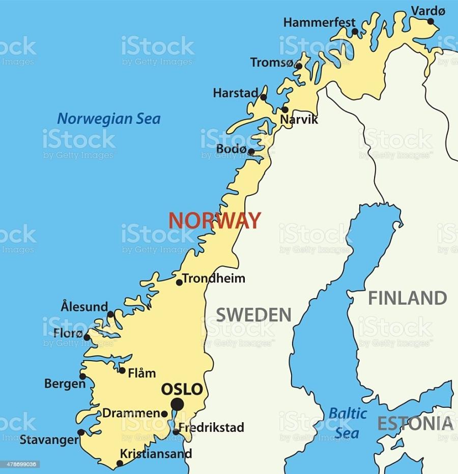 vector map of Norway.