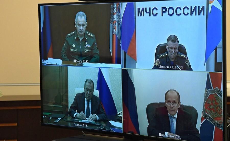 KREMLIN 1 XX 3 HAUT KARABAKH Réunion sur la résolution des problèmes humanitaires au Haut-Karabakh 13 novembre 2020