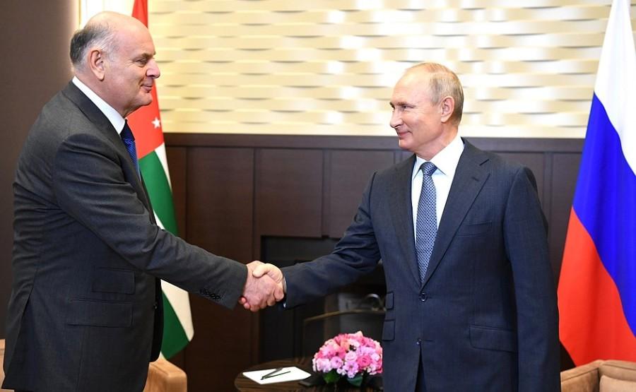 KREMLIN 1 XX 5 ABKHAZIE Entretien avec le président de l'Abkhazie Aslan Bzhania 12 novembre 2020