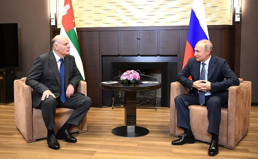 KREMLIN 2 XX 5 ABKHAZIE Entretien avec le président de l'Abkhazie Aslan Bzhania 12 novembre 2020