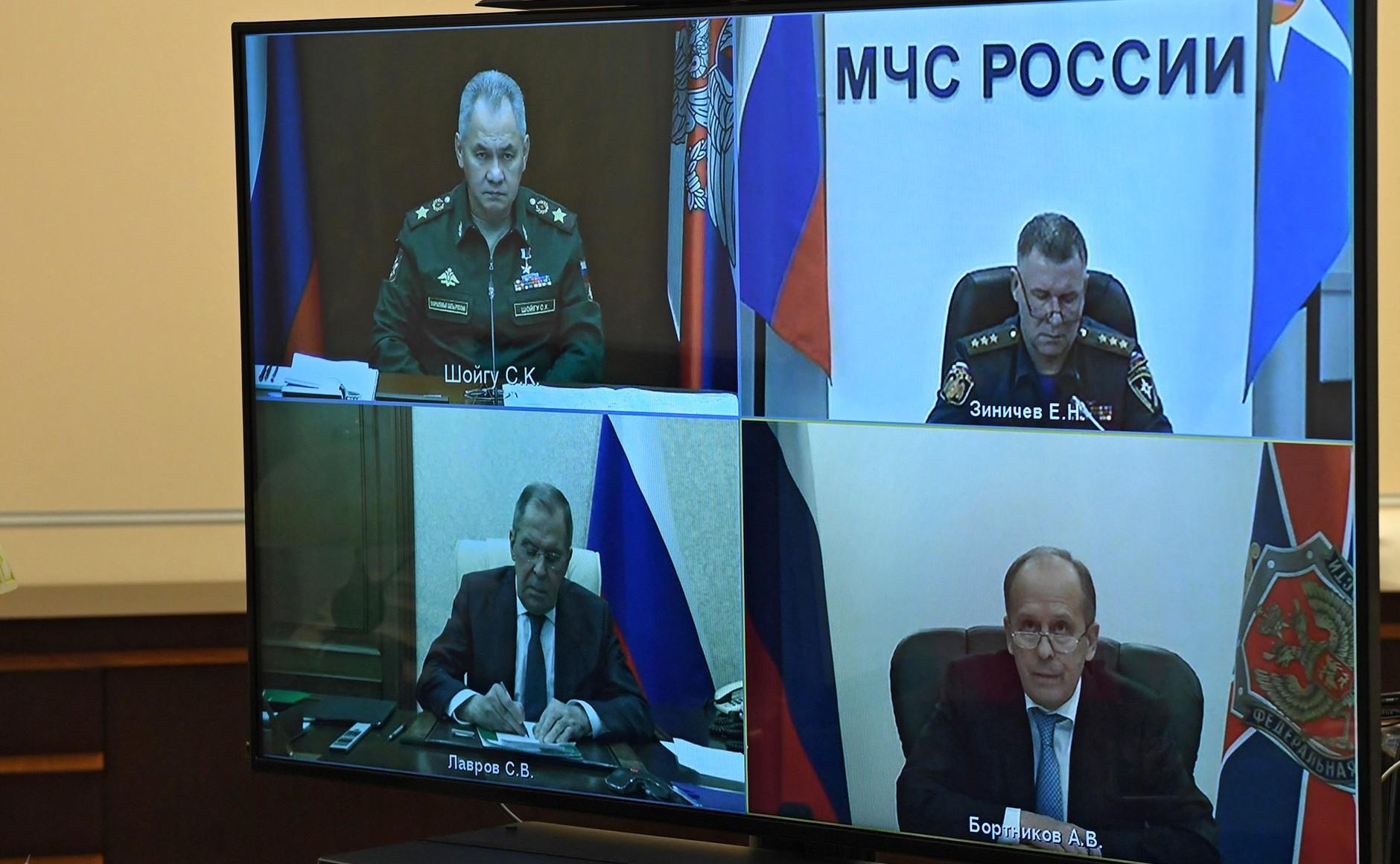 KREMLIN H.K. PH 1 SUR 3 DU 13.11.2020. Réunion sur la résolution des problèmes humanitaires au Haut-Karabakh - 13.11.2020