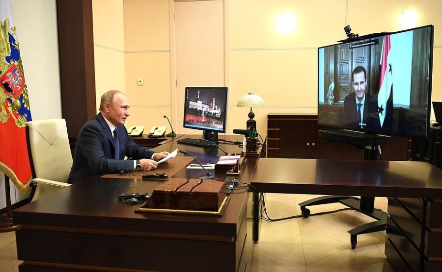 KREMLIN PH 1 SUR 4 Rencontre avec le président syrien Bachar al-Assad - 9 novembre 2020