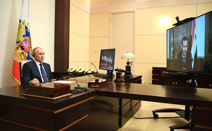 KREMLIN PH 3 SUR 4 Rencontre avec le président syrien Bachar al-Assad - 9 novembre 2020