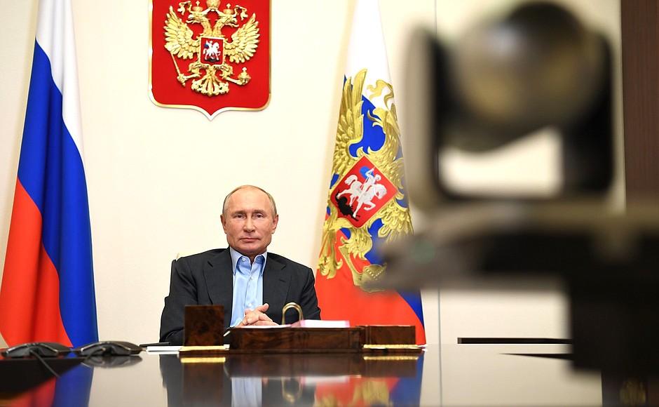 kremlin PH 5 X 8 Rencontre avec les finalistes du concours Bolshaya Peremena - 2 novembre 2020 - 14 H 45