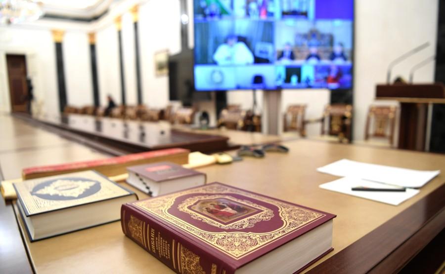 KREMLIN RELIGION 1 SUR 7 Rencontre avec des représentants d'associations religieuses - 4 novembre 2020