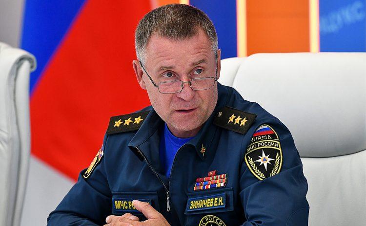 le ministre des urgences , Yevgeny Zinichev