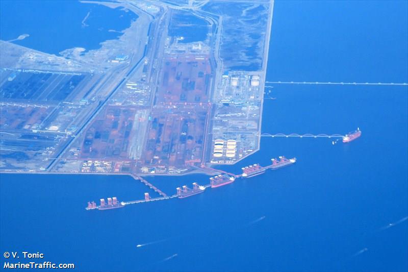 le navire de commerce indien bloqué au Port de Jingtang