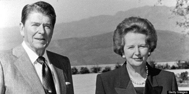 Margaret Thatcher et Ronald Reagan,
