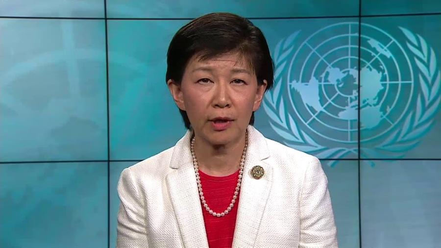 MmeIzumi Nakamitsu,représentante de l'ONU