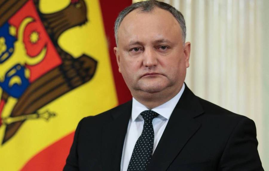 Moldovan President Igor Dodon par agce Tass
