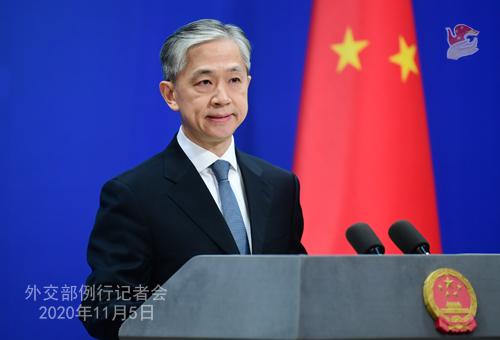 N°15 Conférence de presse du 5 novembre 2020 tenue par le porte-parole du Ministère des Affaires étrangères Wang Wenbin