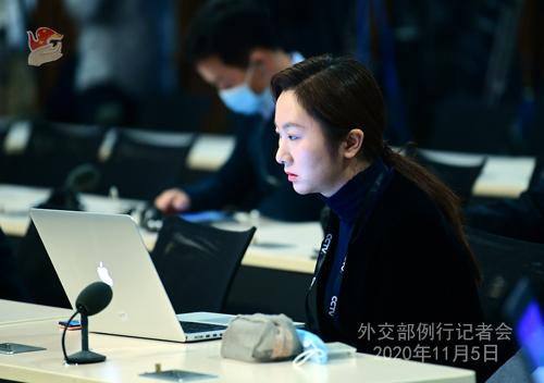 N°16. Conférence de presse du 5 novembre 2020 tenue par le porte-parole du Ministère des Affaires étrangères Wang Wenbin