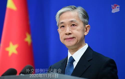 N°19 Conférence de presse du 6 novembre 2020 tenue par le porte-parole du Ministère des Affaires étrangères Wang Wenbin