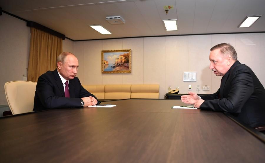RUSSIE 1 SUR 3 Rencontre avec le gouverneur de Saint-Pétersbourg Alexander Beglov.