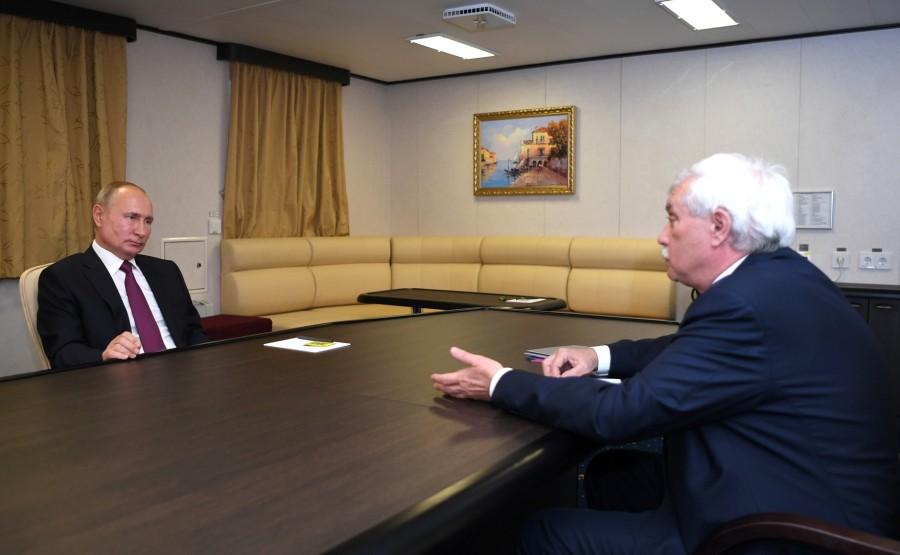 RUSSIE KREMLIN 1 XX 4 Rencontre avec le président du conseil d'administration de l'USC, Georgy Poltavchenko