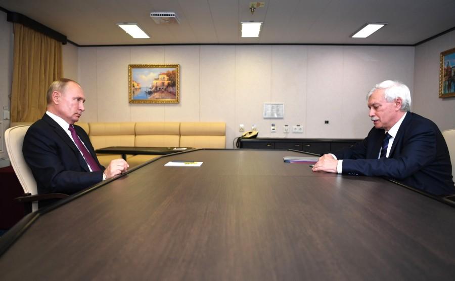 RUSSIE KREMLIN 3 XX 4 Rencontre avec le président du conseil d'administration de l'USC, Georgy Poltavchenko