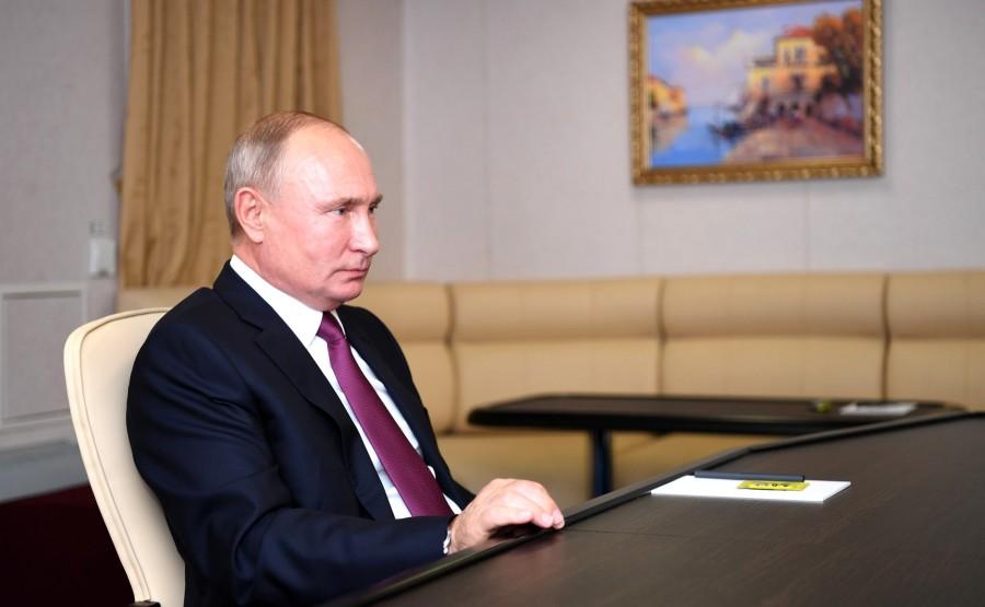 RUSSIE KREMLIN 4 XX 4 Rencontre avec le président du conseil d'administration de l'USC, Georgy Poltavchenko