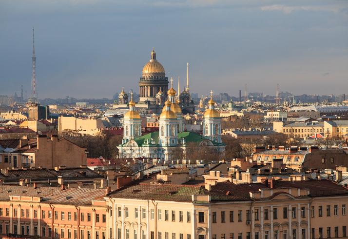 Aerial view of Saint Petersburg, Russia