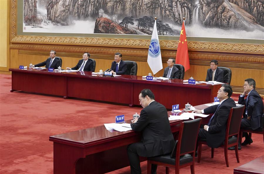 Xi Jinping le 10.11.2020 OCS(Xinhua Ding Lin)