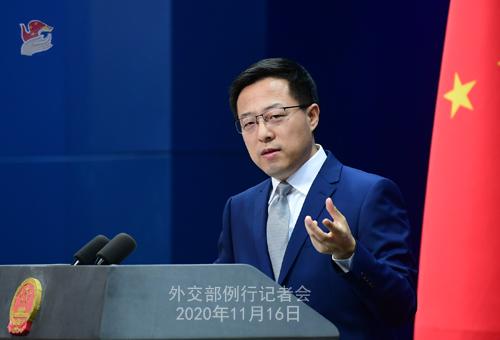 zhao lijian PH 1 Conférence de presse du 16 novembre 2020 tenue par le porte-parole du Ministère des Affaires étrangères Zhao Lijian