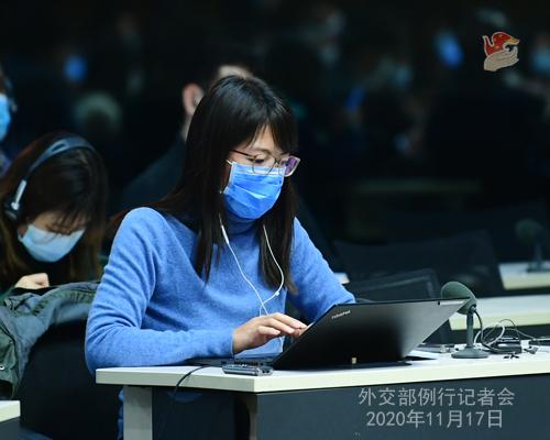 zhao lijian PH 10 Conférence de presse du 17 novembre 2020 tenue par le porte-parole du Ministère des Affaires étrangères Zhao Lijian