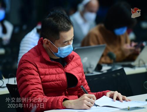 zhao lijian PH 12 Conférence de presse du 17 novembre 2020 tenue par le porte-parole du Ministère des Affaires étrangères Zhao Lijian