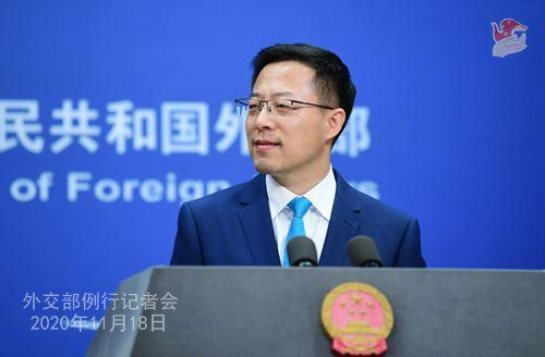 zhao lijian PH 14 Conférence de presse du 18 novembre 2020 tenue par le porte-parole du Ministère des Affaires étrangères Zhao Lijian