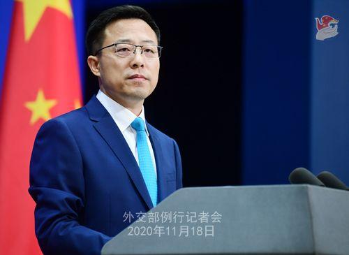 zhao lijian PH 15 Conférence de presse du 18 novembre 2020 tenue par le porte-parole du Ministère des Affaires étrangères Zhao Lijian