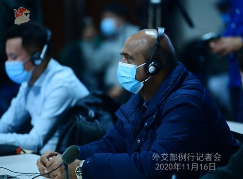 zhao lijian PH 4 Conférence de presse du 16 novembre 2020 tenue par le porte-parole du Ministère des Affaires étrangères Zhao Lijian