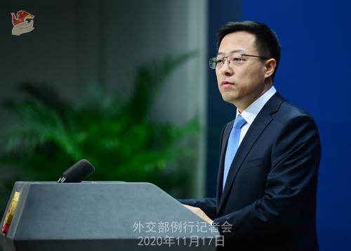 zhao lijian PH 7 Conférence de presse du 17 novembre 2020 tenue par le porte-parole du Ministère des Affaires étrangères Zhao Lijian