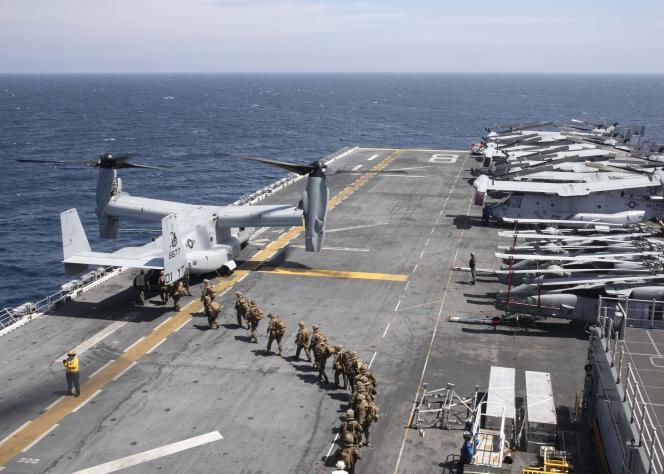 A bord du navire porte-hélicoptères USS Makin Island, au large de la Somalie, le 22 décembre 2020. MASS COMMUNICATION SPECIALIST 2N AFP