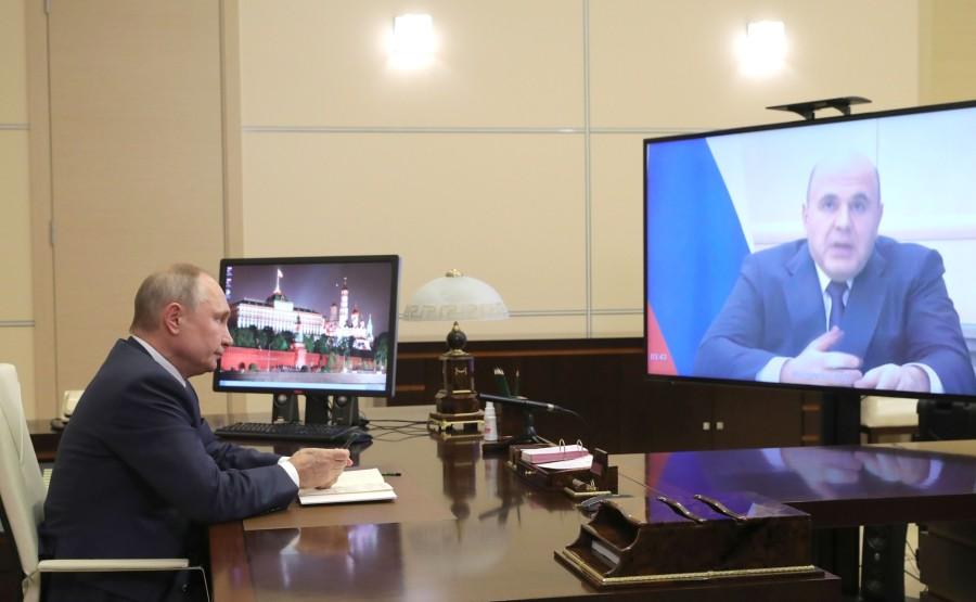AVEC MISHUSTIN 1 XX 4 Rencontre avec le Premier ministre Mikhail Mishustin - 30 décembre 2020