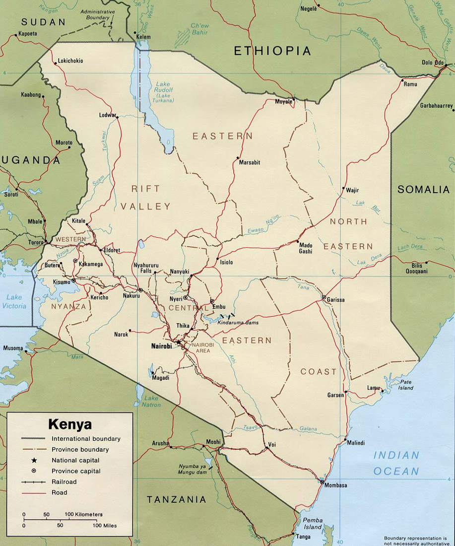carte-administrative-du-kenya