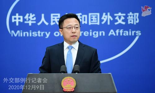CHINE 1 SUR 23 Conférence de presse du 9 décembre 2020 tenue par le porte-parole du Ministère des Affaires étrangères Zhao Lijian