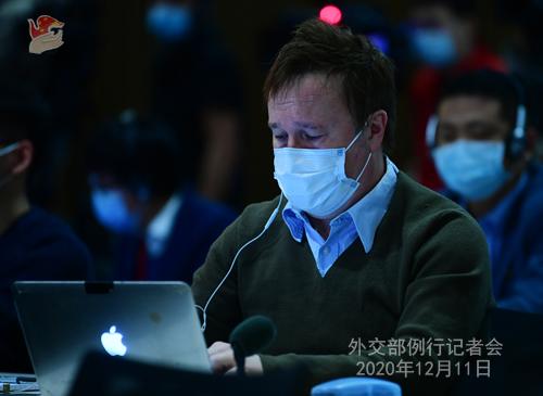 CHINE 19 SUR 23 Conférence de presse du 11 décembre 2020 tenue par la porte-parole du Ministère des Affaires étrangères Hua Chunying