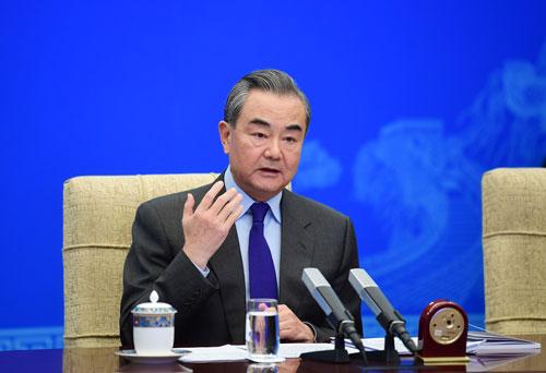 CHINE 2 Entretien par liaison vidéo entre Wang Yi et l'Asia Society des États-Unis du 18.12.2020