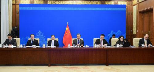 CHINE 3 Entretien par liaison vidéo entre Wang Yi et l'Asia Society des États-Unis du 18.12.2020