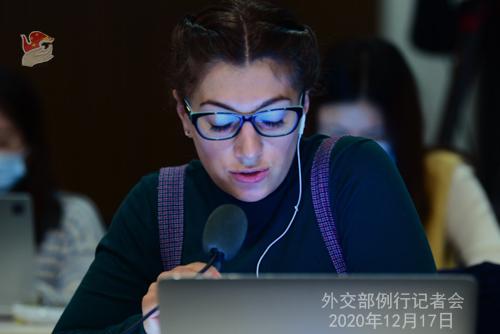 CHINE 8 Conférence de presse du 17 décembre 2020 tenue par le porte-parole du Ministère des Affaires étrangères Wang Wenbin