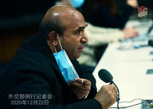 CHINE N° 11 Conférence de presse du 22 décembre 2020 tenue par le porte-parole du Ministère des Affaires étrangères Wang Wenbin