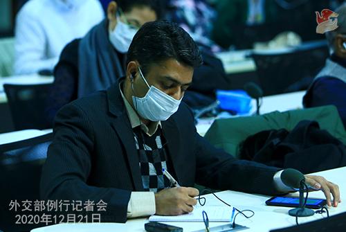 CHINE N° 2 Conférence de presse du 21 décembre 2020 tenue par le porte-parole du Ministère des Affaires étrangères Wang Wenbin